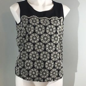 Sophie Max Embroidered Sleeveless Top